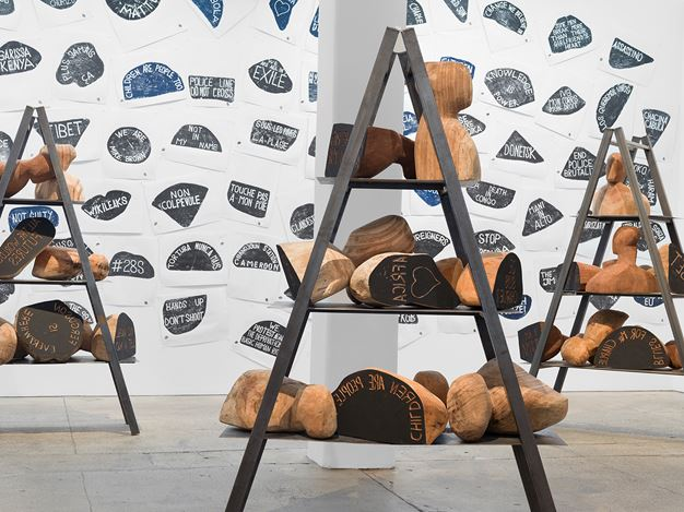 Exhibition view: Barthélémy Toguo,Urban Requiem, Galerie Lelong & Co. New York (15 March–11 May 2019). Courtesy Galerie Lelong & Co. New York.