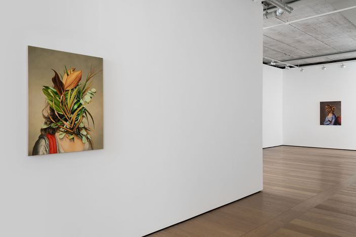 Exhibition view: Ewa Juszkiewicz, The Grass divides as with a Comb, Almine Rech, London (18 June–31 July 2020). Courtesy the Artist and Almine Rech. Photo: Melissa Castro Duarte.