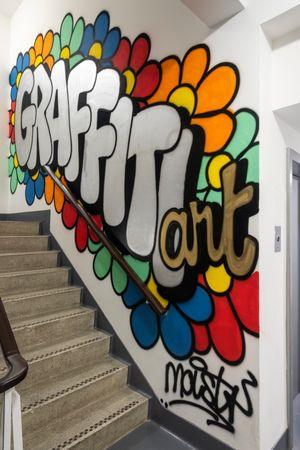 Graffiti work by Alexander Reben contemporary artwork painting, installation