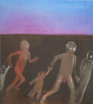 rennen müssen by Miriam Cahn contemporary artwork painting