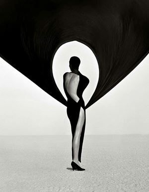 Versace Dress, Back View, El Mirage by Herb Ritts contemporary artwork
