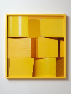 ICON yellow (iii) by Shaun Waugh contemporary artwork