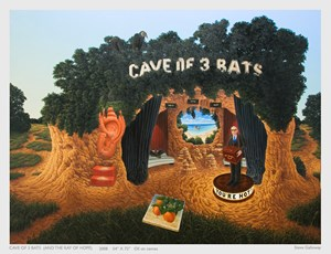 Cave of Three Bats (and the Ray of Hope) by Steve Galloway contemporary artwork