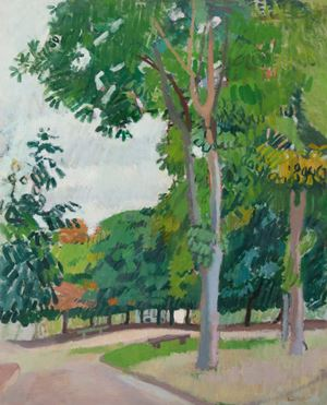 Le parc by Raoul Dufy contemporary artwork