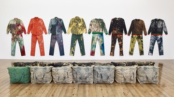 Contemporary art exhibition, Sterling Ruby, WORK WEAR: Garment and Textile Archive 2008-2016 at Sprüth Magers, London