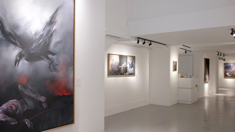 Vladimir Veličović,  rавран, A2Z Art Gallery, Hong Kong (25 May–23 June 2019). Courtesy A2Z Art Gallery.