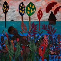 Moon gazer and Lemon Trees by Jannis Varelas contemporary artwork painting