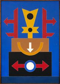 Emblema 89 by Rubem Valentim contemporary artwork painting