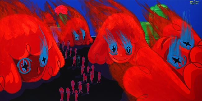 EVERYTHING IS BURNING by Yeo Kaa contemporary artwork