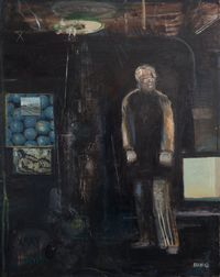 A Moment in a Dark Room by Simon Stone contemporary artwork painting