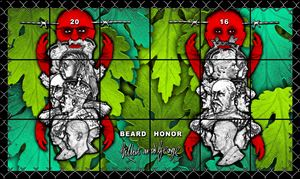 BEARD HONOR by Gilbert & George contemporary artwork