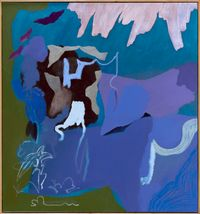 Blue Lagoon by Tonee Messiah contemporary artwork painting