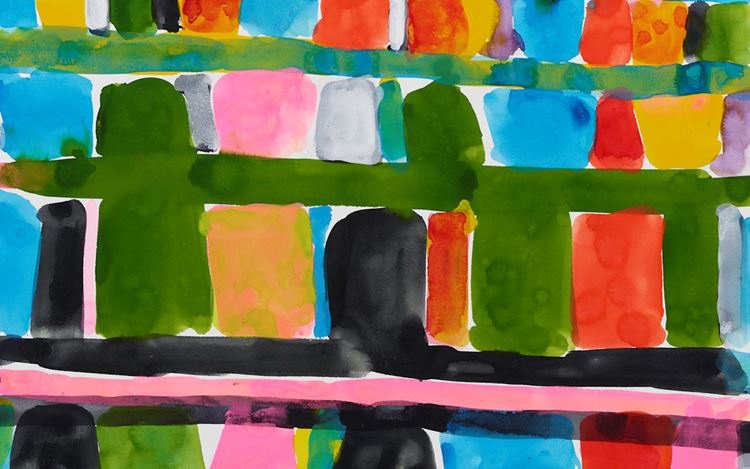 Stanley Whitney,Untitled (2015) (detail). Gouache on paper 22 x 30 inches / 55.9 x 76.2 cm.© Stanley Whitney. Courtesy Lisson Gallery.