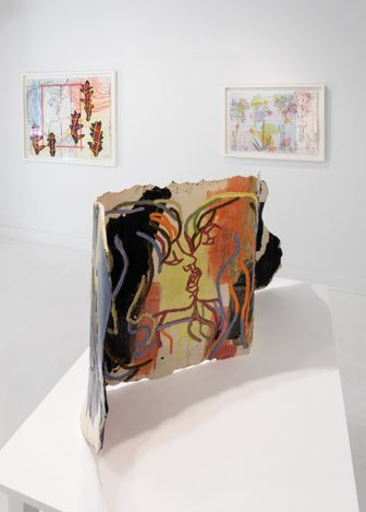 Exhibition view: Ghada Amer, Thicket, Goodman Gallery, East Hampton (22 June–3 July 2021). Courtesy Goodman Gallery.