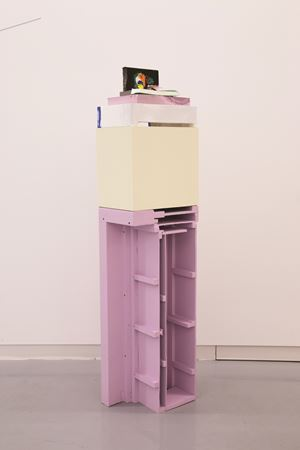 Nailed Stack by Jessica Stockholder contemporary artwork