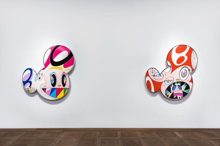 Exhibition view: Takashi Murakami, Takashi Murakami in Wonderland, Perrotin, Shanghai (10 November 2018–5 January 2019). ©2018 Takashi Murakami/Kaikai Kiki Co., Ltd. All Rights Reserved. Courtesy Perrotin. Photo: Yan Tao