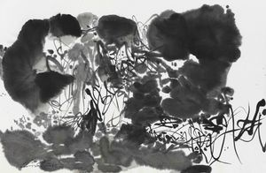 B/W Composition 1 by Chu Teh-Chun contemporary artwork painting, works on paper, drawing