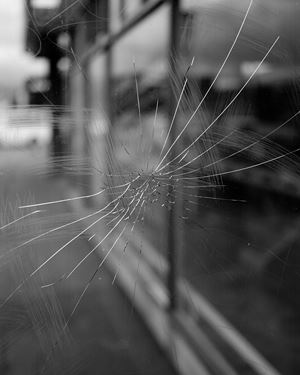 Untitled (cracked glass), Wellington, New Zealand by Harry Culy contemporary artwork