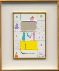 White and Yellow in the Bulges by Sadamasa Motonaga contemporary artwork painting