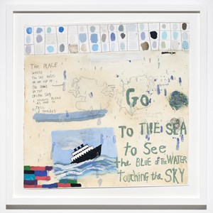 Go to the Sea by Squeak Carnwath contemporary artwork
