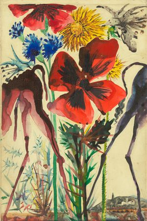 Pinona et Liviana, les ânesses du meunier et de la meunière by Salvador Dalí contemporary artwork