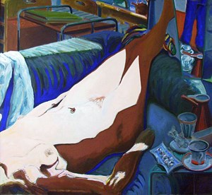 Schalentier Sabine by Norbert Tadeusz contemporary artwork painting