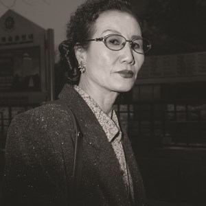 Ajumma wearing a gold-rimmed eye  glasses, March 21 by Hein-kuhn Oh contemporary artwork