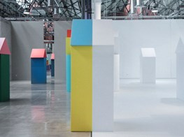Child's play: Daniel Buren showcases his new installation at the Museo Espacio