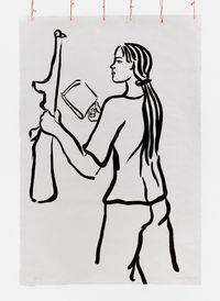 Girl with Book and Gun by Cecilia Vicuña contemporary artwork print