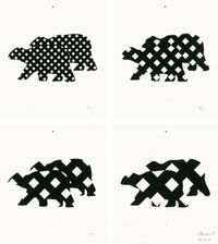 # 628 twicebears by Tomas Schmit contemporary artwork painting, works on paper, drawing