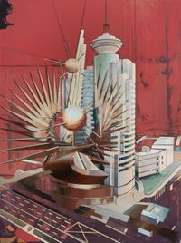 Shanghai Broadcasting Building by Cui Jie contemporary artwork painting