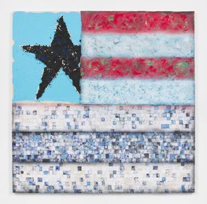 American Too by Vaughn Spann contemporary artwork