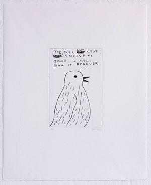 You will not stop... by David Shrigley contemporary artwork