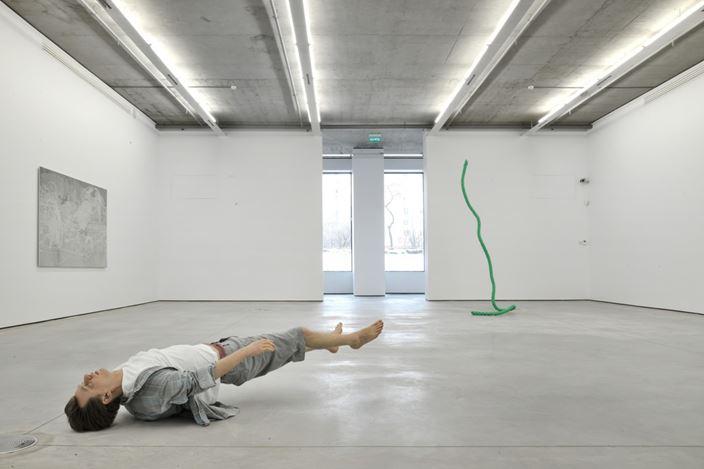 Exhibition view: Group Exhibition,Olaf Breuning. Tony Matelli. John Miller.,Gary Tatintsian Gallery, Moscow (20 March–14 June 2014). CourtesyGary Tatintsian Gallery.