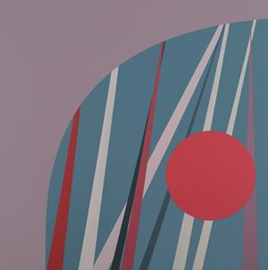Battle of Constantine by Tess Jaray contemporary artwork