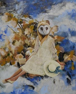 Wisdom of the Owl by Marnie Weber contemporary artwork