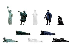 Reclining Statues by Ishu Han contemporary artwork