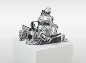 Games, Dance & the Constructions ( Soft Toy/ Silver ) #3 遊戲、舞與結構(填充玩具/銀)#3 by Teppei Kaneuji contemporary artwork