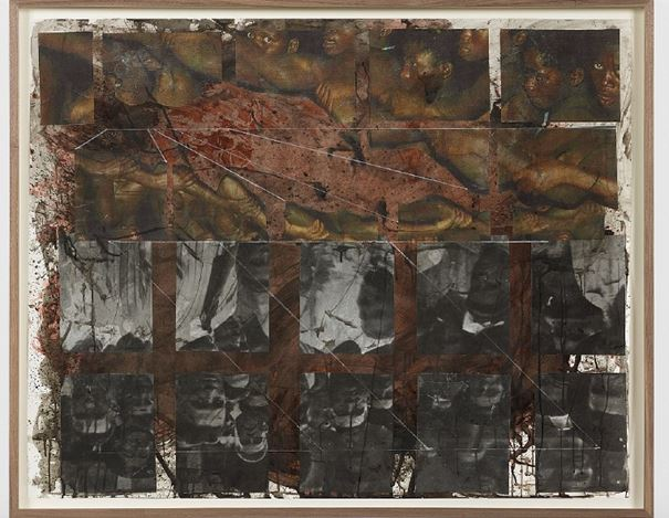 Kandis Williams, co-response-ability with/for the unknown Other (2019–2020). Xerox collage and ink on paper, framed. 106.7 x 132.6 cm. © Kandis Williams. Courtesy the artist and Night Gallery.