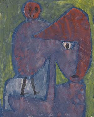 Detail of Besessen (Possessed) by Paul Klee contemporary artwork