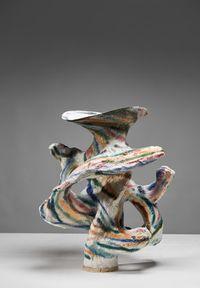 Lacy traces I by Johannes Nagel contemporary artwork sculpture, ceramics