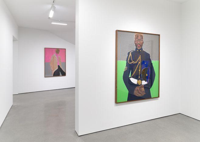 Exhibition view:Serge Attukwei Clottey,Beyond Skin, Simchowitz, Los Angeles (17 April–8 May 2021). Courtesy Simchowitz.