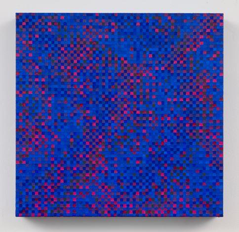 Tony Bechara, Nocturne (2013). Acrylic on canvas. 41 x 41 x 6 cm. Courtesy galerie Denise René.