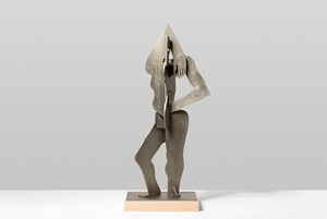 Silver Figure by Thomas Houseago contemporary artwork