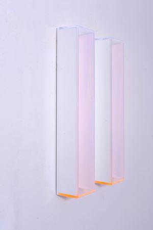 Colormirror rainbow glow after blu orange milan by Regine Schumann contemporary artwork