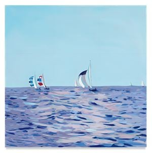 Sailboats by Isca Greenfield-Sanders contemporary artwork