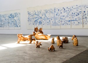 The Plan of 100 Unicorns by Qiu Zhijie contemporary artwork