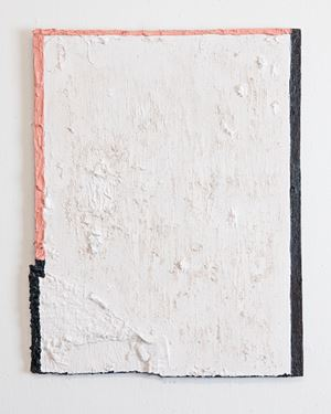 Untitled (black and pink edge) by Louise Gresswell contemporary artwork