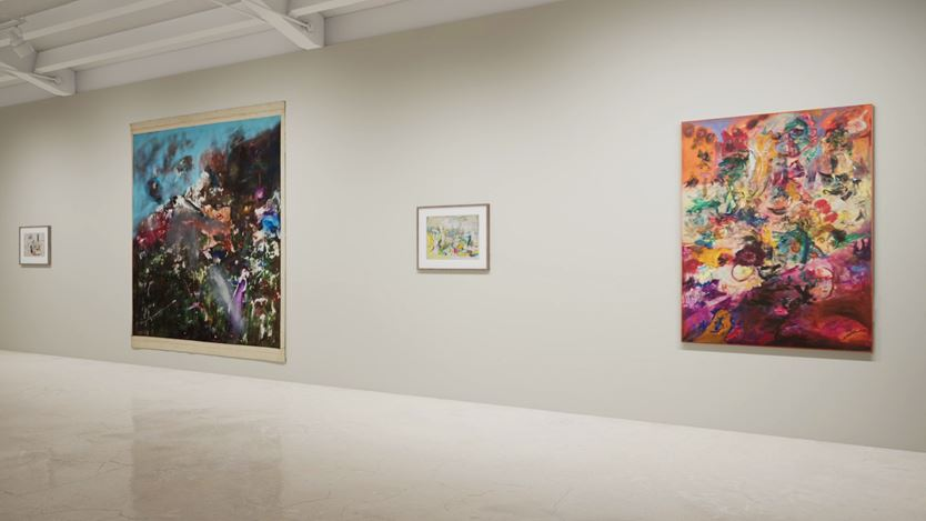 Exhibition view: Created in HWVR, Arshile Gorky & Jack Whitten, picturing Arshile Gorky, Untitled (c.1944–1945), Jack Whitten, View from Aghia Galini (1969), Arshile Gorky, Virginia Landscape (c. 1944) and Jack Whitten, King's Wish (Martin Luther's Dream) (1968). © (2019) The Arshile Gorky Foundation / Artists Rights Society (ARS) / © Jack Whitten Estate. Courtesy the estates and Hauser & Wirth.