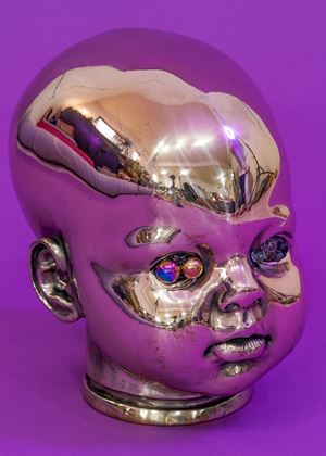 Sartre, Crosseyed, 10 Eyes, Thing by Yangachi contemporary artwork sculpture